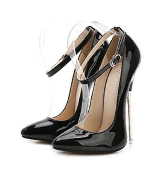 Spedizione gratuita per tutti gli ordini Sexy Clubwear donna Pointy Pointy Pointy Toe Stiletto Very High Heel Patent Leather 16cm scarpe  salutare