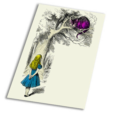 A1 A2 A3 A4 A5 Alice Wonderland Colour Rabbit Vintage Art Print Poster