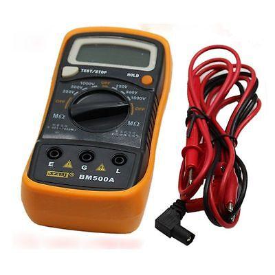 BM500A Digital Insulation Resistance 1999M 1000V Tester Meter Megohmmeter Joli