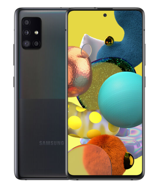 Smartphone 6.5 Super AMOLED 6GB RAM, 128GB ROM SAMSUNG Galaxy A51 5G Negro Versi/ón espa/ñola