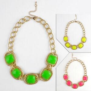 Hot-Women-Crystal-Flower-Necklace-Choker-Bib-Statement-Chunky-Collar-Chain-Style