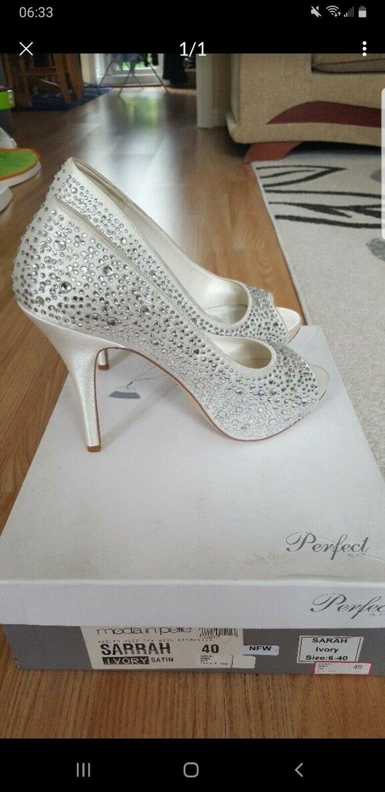 White wedding shoes size 7