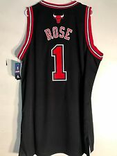 Adidas Swingman NBA Jersey CHICAGO Bulls Derrick Rose Black sz 2X