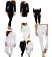 Camisas-de-mujer-de-invierno-larga-Johns-Manga-Completo-Negro-Blanco-Termica-Damas-Top-Parte miniatura 1