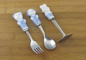 Rubicon-3-Piece-Baby-Flatware-Set-Porcelain-Handles-Stainless-Silverware