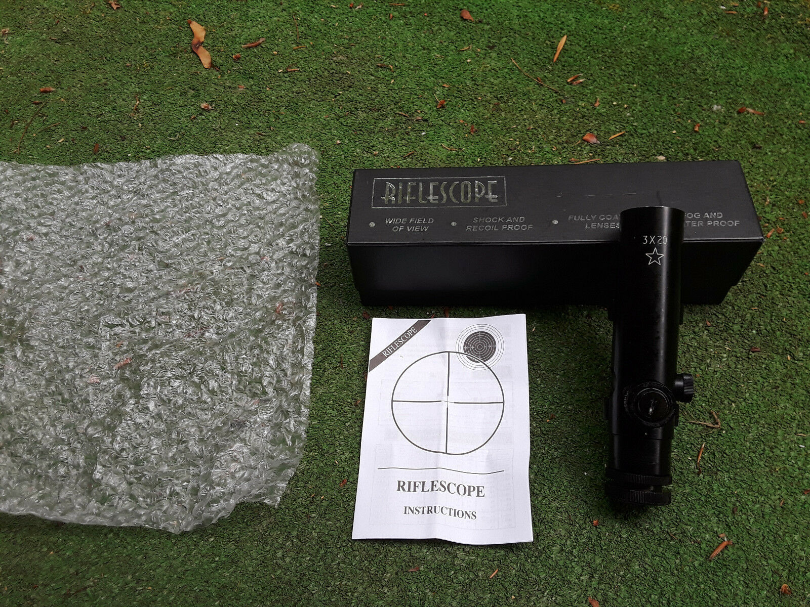 Colt Style Rifle Handle Scope 3x20 with Box & Manual