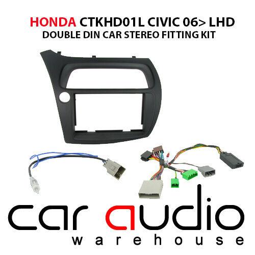 Honda Civic 2006-2011 SONY Car Stereo LHD Fascia /& Steering Wheel Interface Kit