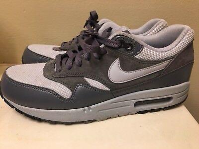 Nike Air Max 1 Essential 537383 019 Wolf GreyDark Grey Leather Men's Sz 9   eBay