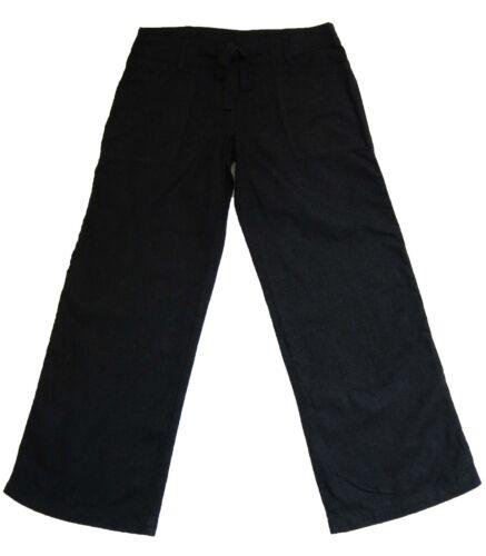 Nouveau haut noir lin NEXT Pantalon Taille 8 Regular Label faute