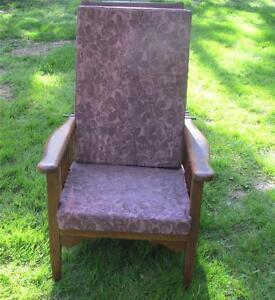 Antique Victorian Mission Oak Morris Chair Victorian