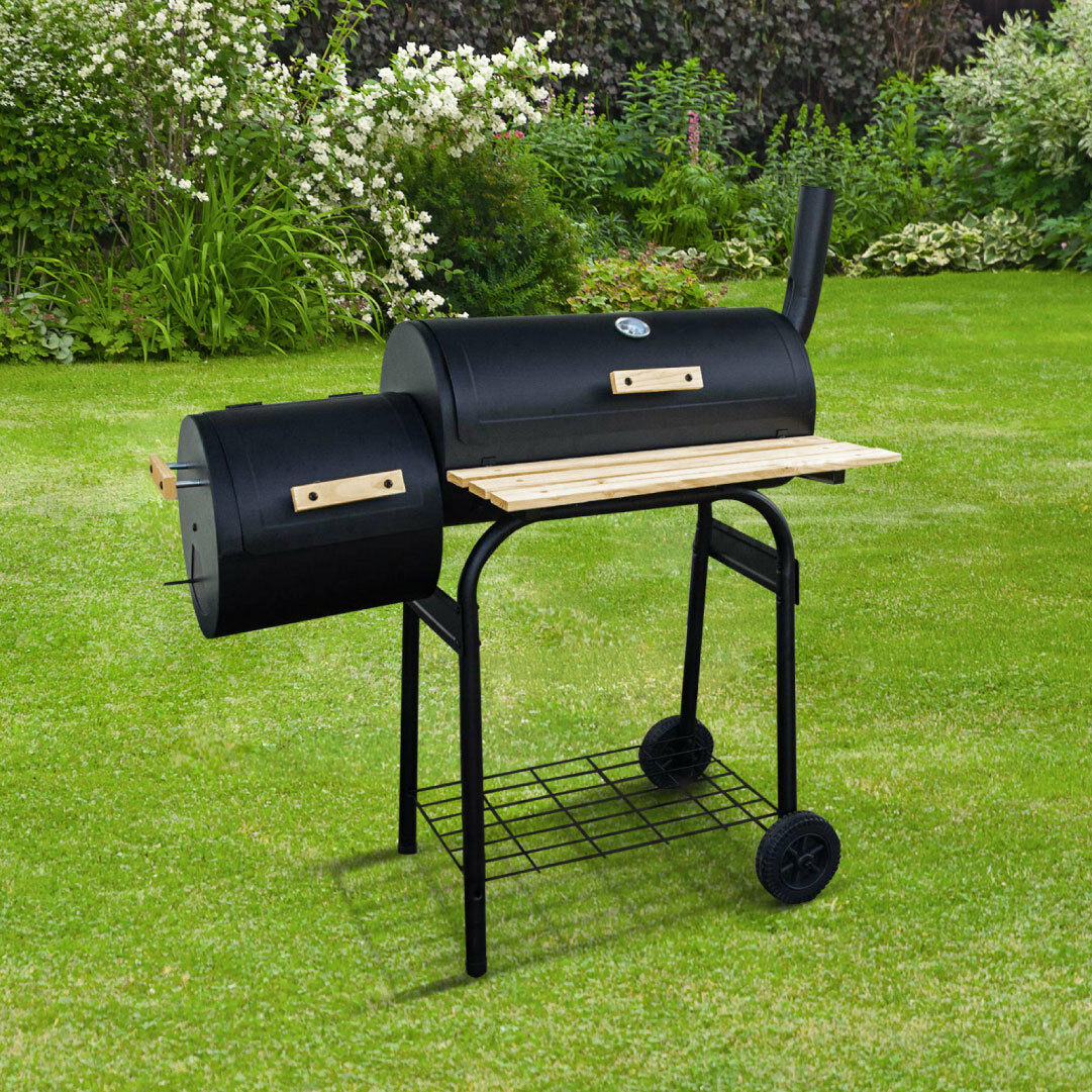 BillyOh Full Drum Charcoal BBQ - Garden Barbecue Grill Cooking Offset Smoker