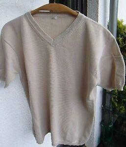 Pullover Gr. L beige kurzarm Baumwolle - Westerwald, Deutschland - Pullover Gr. L beige kurzarm Baumwolle - Westerwald, Deutschland