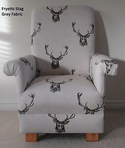 Image Is Loading Fryetts Stag Fabric Child Chair Deer Natural Nursery