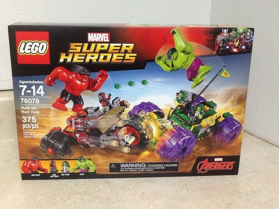 Lego - helden 76078 hulk vs. rot hulk mit 4 minifigs