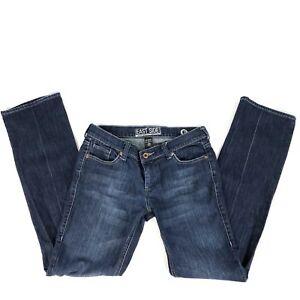 New-York-amp-Co-6-Avg-Women-039-s-Jeans-Stretch-Dark-Wash-East-Side-Straight-Leg-E