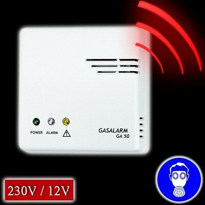 Gasalarm 12v 230v Gaswarner Gasmelder Gaswarngerät Volt Alarmanlage Gasdetektor