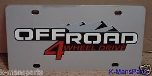 Ford 4x4 Off Road Mirror Polished 3D Finish Logo Stainless Steel License Plate
