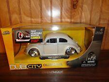Jada Toys 1/24 1959 Volkswagen VW Beetle Slammed Big Empi Wheels White Pearl