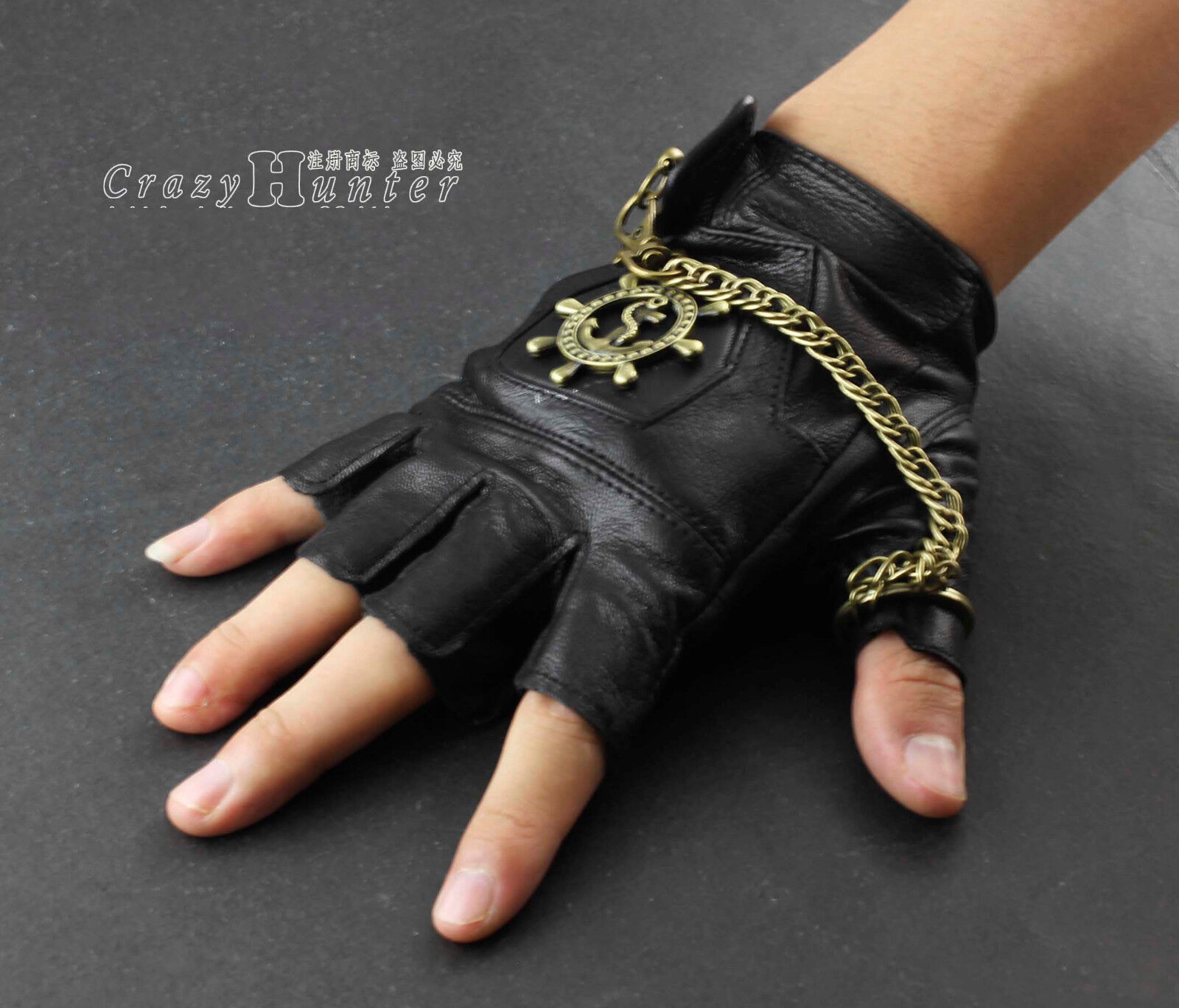 Steampunk gloves men