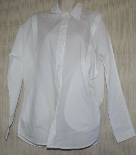 All manches Cotton Mankind Women 7for à Taille Chemise longues oversize xs à manches White wqZdZHT