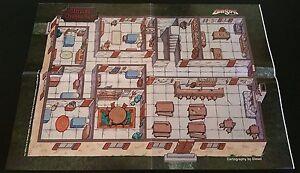SLEEPING DRAGON INN Poster Map Paizo Dungeon Magazine 81 Dungeons & Dragons NEW!