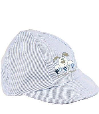 Boys Baby Clothes Blue White Summer Cotton Cap 3-6 months 6-12 months 12-18m