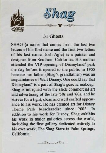 """New Disney Parks SHAG /""""31 Ghosts/"""" Right Side Haunted Mansion 50th Fine Art Print"""
