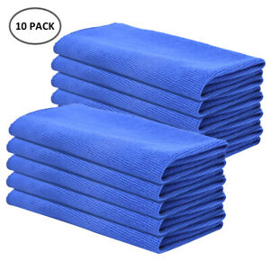 10x LARGE MICROFIBRE CLEANING AUTO CAR DETAILING SOFT CLOTHS WASH TOWEL DUSTER