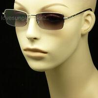 Reading Sunglasses Glasses Rimless Men Women Spring Hinge Power Tint Sun Lens