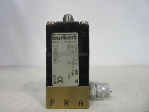 Bürkert Burkert 0311 C 2,0 NBR MS Magnetventil
