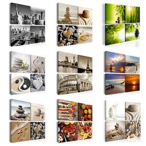 Details zu Leinwand Bilder xxl Kunstdruck Wandbilder Natur Strand SPA Küche  Reise New York