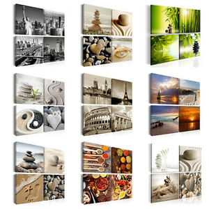 Leinwand Bilder xxl Kunstdruck Wandbilder Natur Strand SPA Küche ...