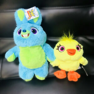 2019-Toy-Story-4-Blue-Bunny-and-Yellow-Ducky-Disney-Soft-Plush-Figure-Gift