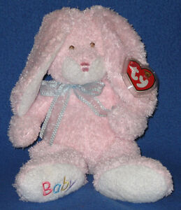 BUNNY HOP (PINK) THE BUNNY - BABY TY - MINT with MINT TAGS
