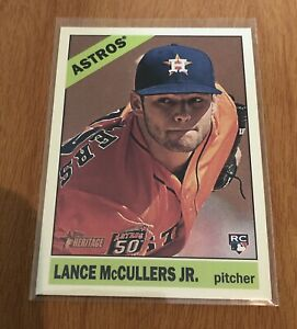 2015-Topps-Heritage-High-Number-Lance-McCullers-Rookie-Card-605-Houston-Astros