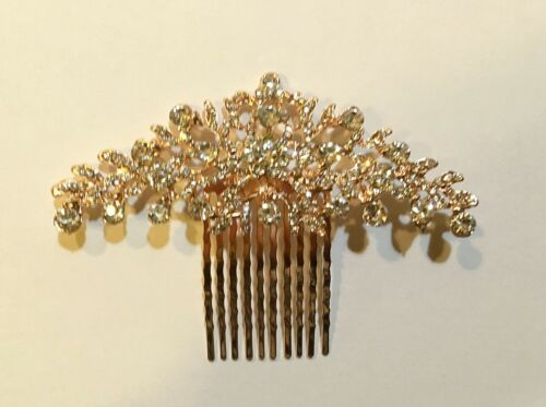 Crown Inspired Design Sparkling Bridal Hair Comb made with Rhinestones