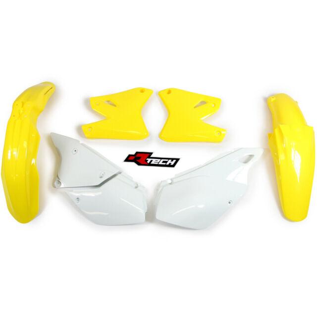 Racetech  Mx Suzuki DRZ400E 2000-2020 Motorbike White Yellow OEM Plastics