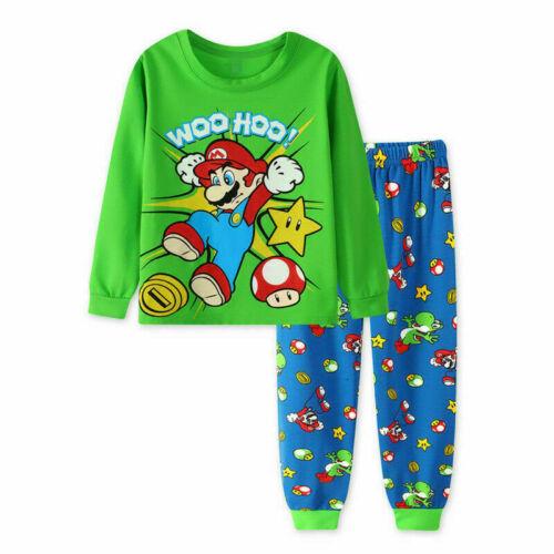 Christmas Super Mario Pyjamas Kids Set PJS Birthday Gift Character Nightwear.Kid