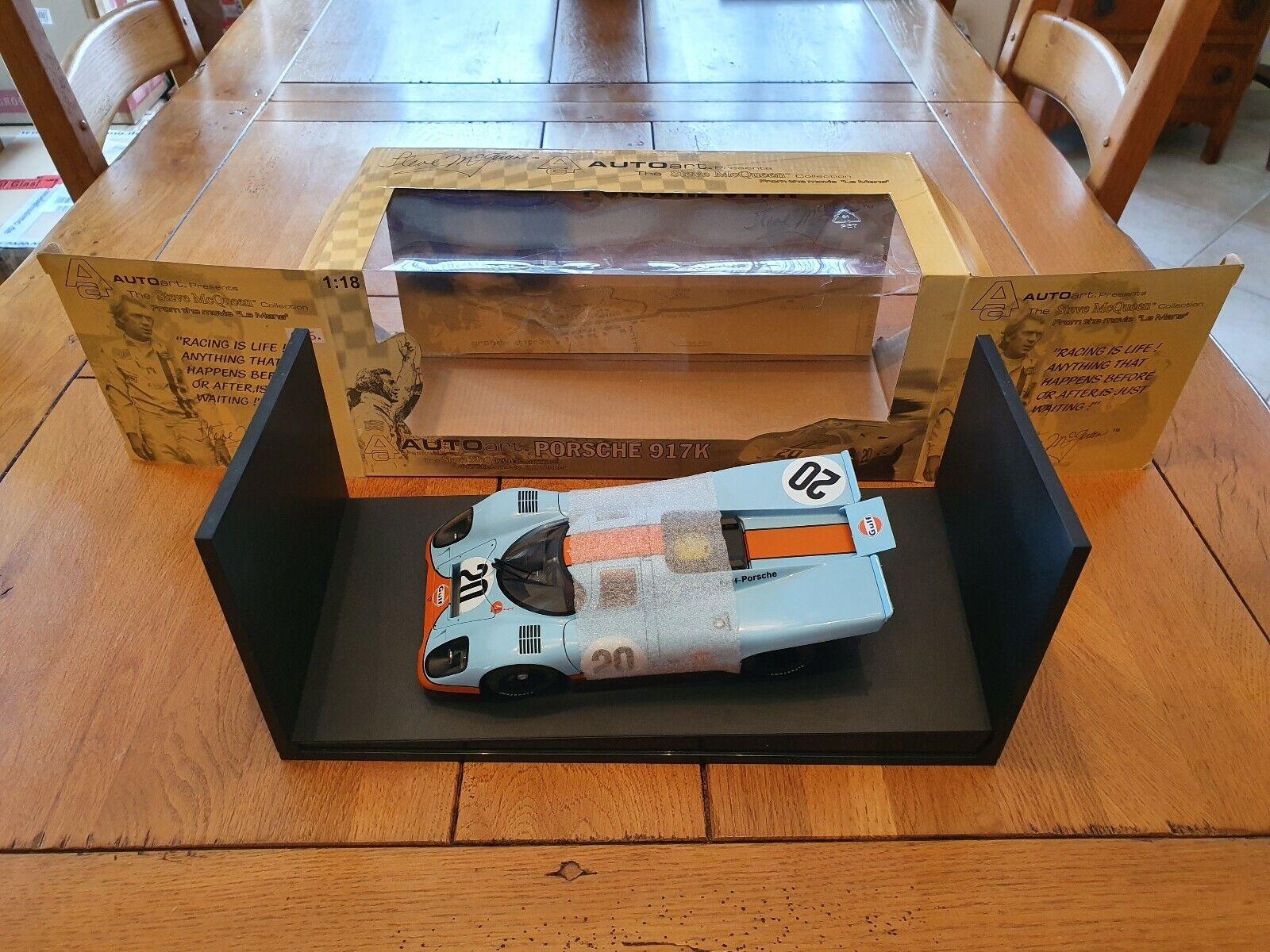 118 AUTOart GULF Porsche 917K  20 Steeve Mcregina LE uomoS movie primero edizione