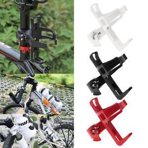 Adjustable Bike Bottle Holder Motorbike Wheelchair Push Cart Water Cage Red