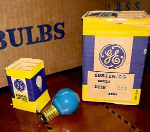 Lamps, Lighting General Electric Ge 10s11n/cg Lamp Sign 10 Watts 6 Pack Bulb 120 V Green Sign