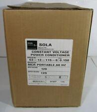 New Sola Constant Voltage Power Conditioner Regulator 63 13 115 6 150 Kva 120v