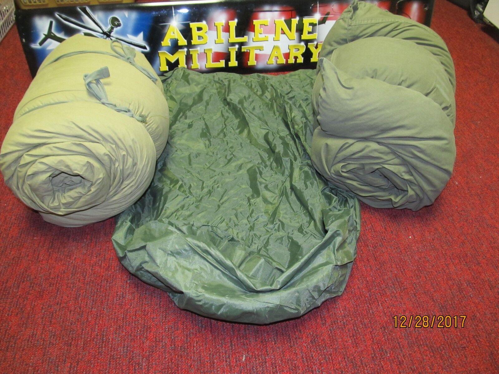 Komplette militärische M-1949 Arctic Mountain Sleeping Bag 4 Piece Set Feather