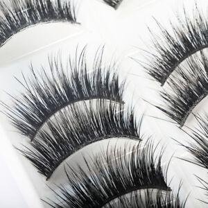 1c81b84e42d 10 Pairs 100% Real Mink 3D Volume Thick Daily False Fake Eyelashes ...
