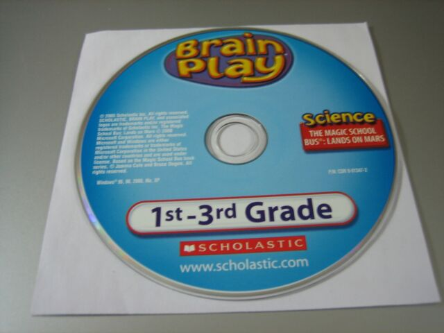 Brain Play 1st-3rd Grade - Magic School Bus Lands on Mars (PC, 2005) - Disc Only