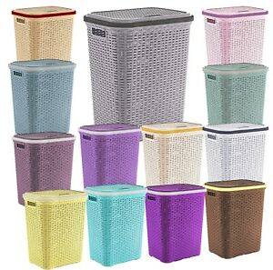 Image Is Loading 56l Laundry Basket Washing Clothes Storage Hamper Rattan