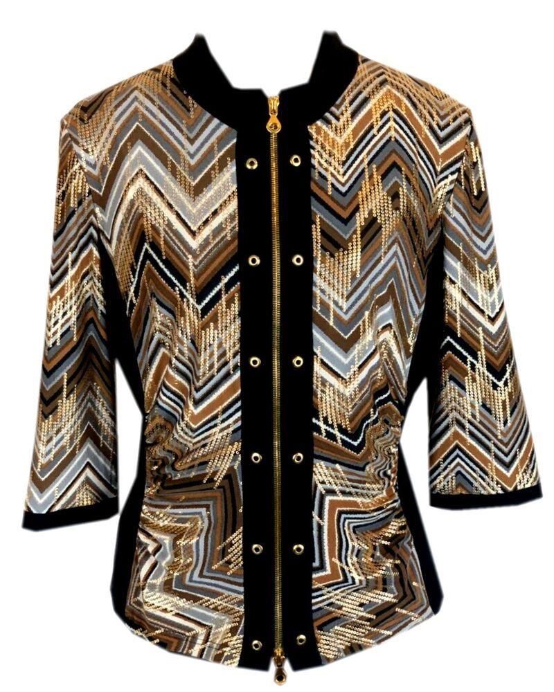 Joseph Ribkoff 24551 Twin-set Blazer + Top Stretchjacke Gold Marron Rrp: 249 €