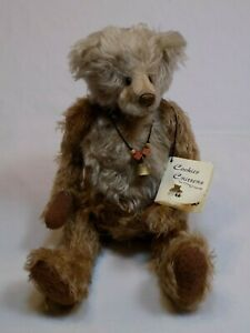 Cookies-Critters-Mohair-Wool-Adult-Teddy-Bear-Andie-by-Donna-Nielsen-11-5-034-OOAK