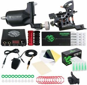 Kit-Professionnel-Tatouage-Ensemble-Tattoo-Debutant-Machine-Rotative-Body-Art-FR