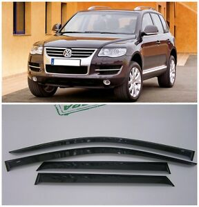 Volkswagen VW Touareg 2004 2005 2006 2007 4 Door Wind Deflector Visors